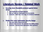 literature review related work