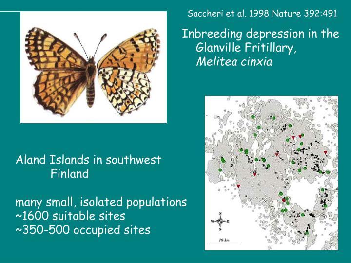 Saccheri et al. 1998 Nature 392:491