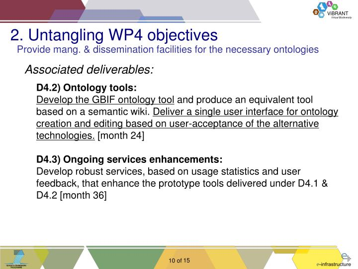 2. Untangling WP4 objectives