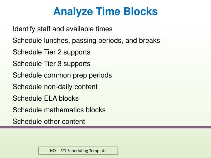 Analyze Time