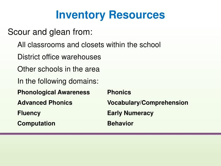 Inventory Resources