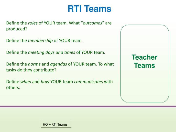 RTI Teams