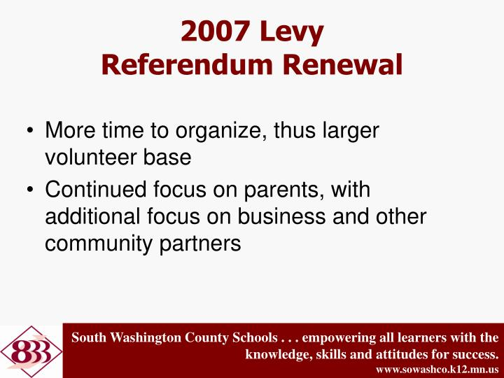 2007 Levy