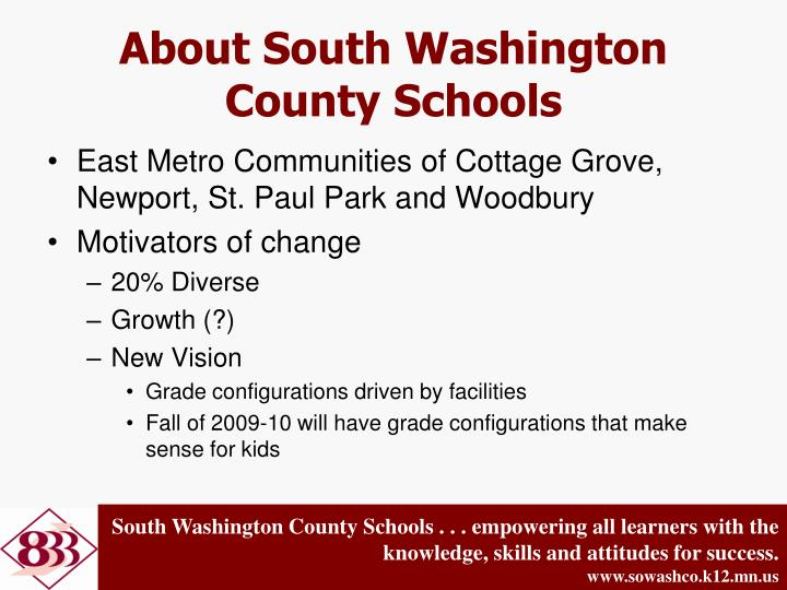 About South Washington County Schools
