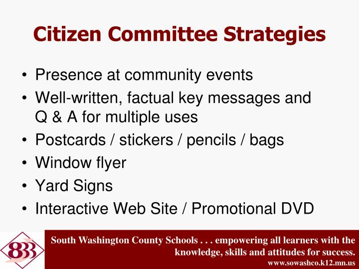 Citizen Committee Strategies