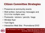 citizen committee strategies