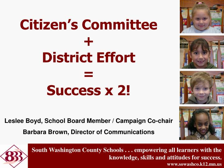 Citizen s committee district effort success x 2