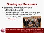 sharing our successes1