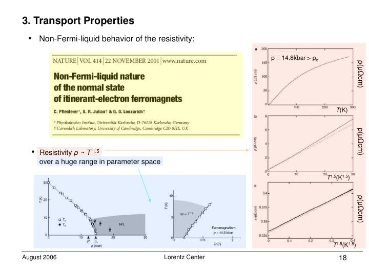3. Transport Properties