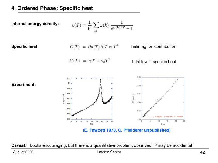 4. Ordered Phase: Specific heat