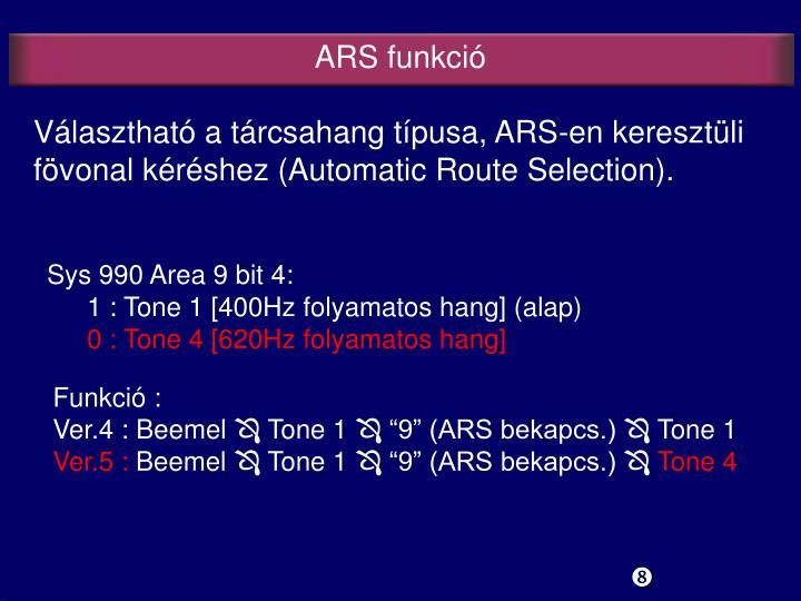 ARS funkció