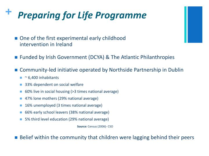 Preparing for life programme
