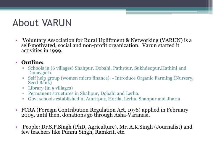 About VARUN