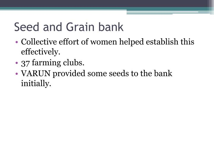 Seed and Grain bank
