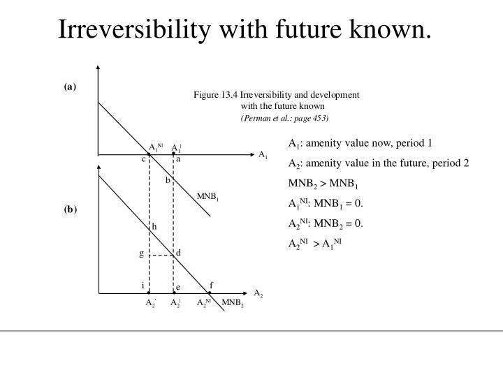Irreversibility with future known.