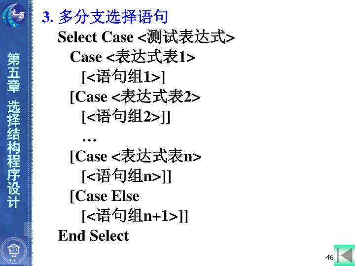 3. 多分支选择语句
