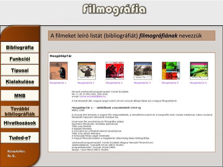 Filmográfia
