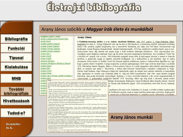 Életrajzi bibliográfia