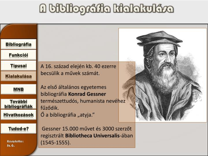 A bibliográfia kialakulása
