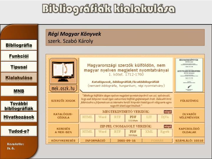 Bibliográfiák kialakulása