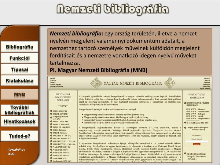 Nemzeti bibliográfia