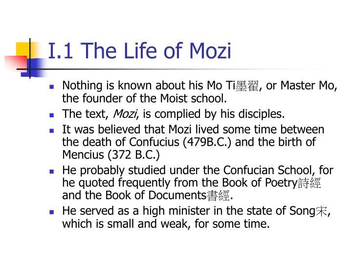 I.1 The Life of Mozi