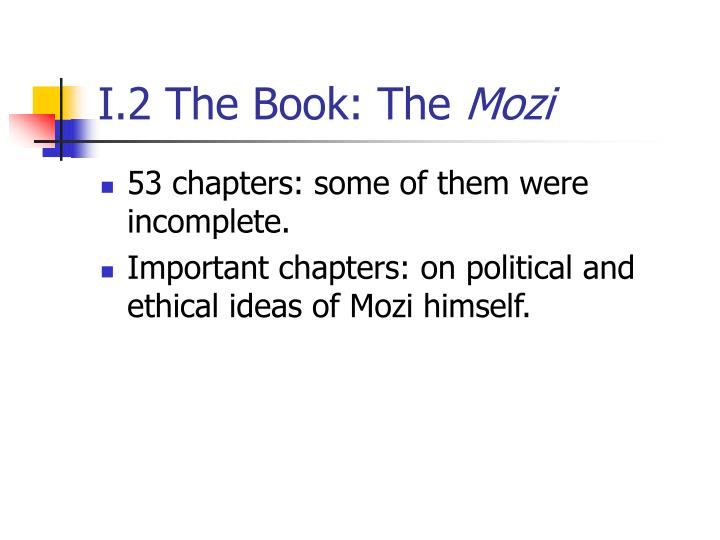 I.2 The Book: The