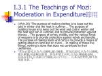 i 3 1 the teachings of mozi moderation in expenditure