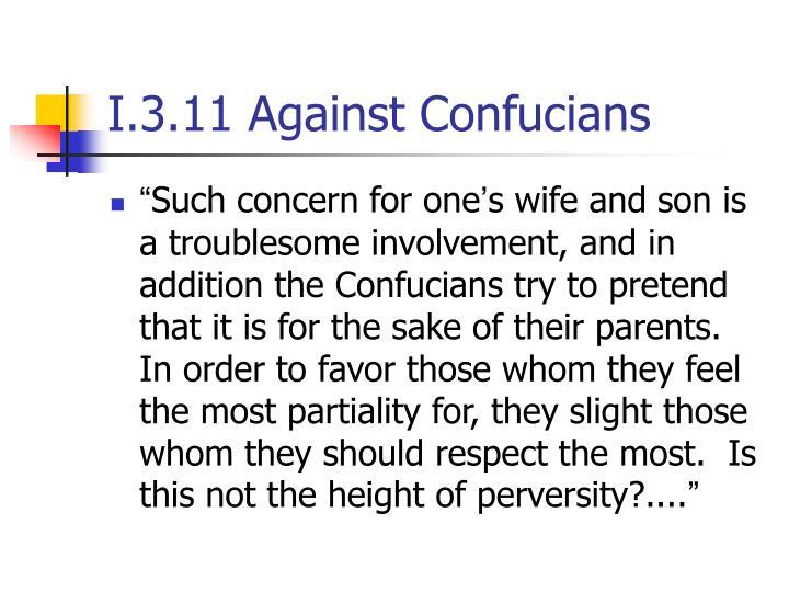 I.3.11 Against Confucians
