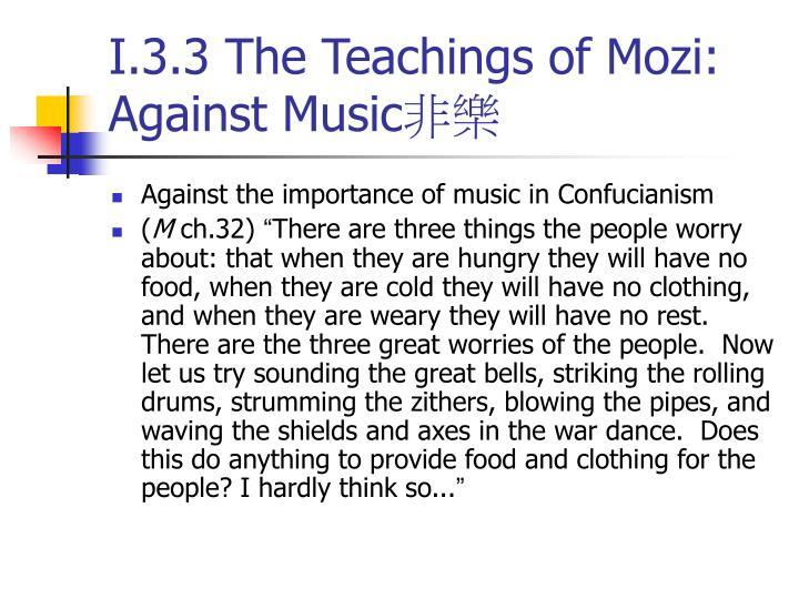 I.3.3 The Teachings of Mozi: Against Music