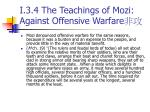 i 3 4 the teachings of mozi against offensive warfare