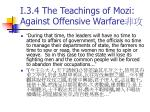 i 3 4 the teachings of mozi against offensive warfare1