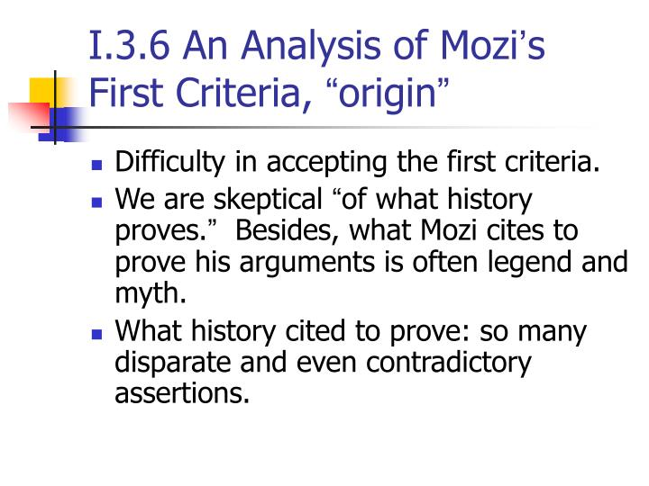 I.3.6 An Analysis of Mozi