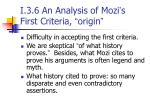 i 3 6 an analysis of mozi s first criteria origin