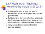 i 3 7 mozi s other teachings honoring the worthy ch 8