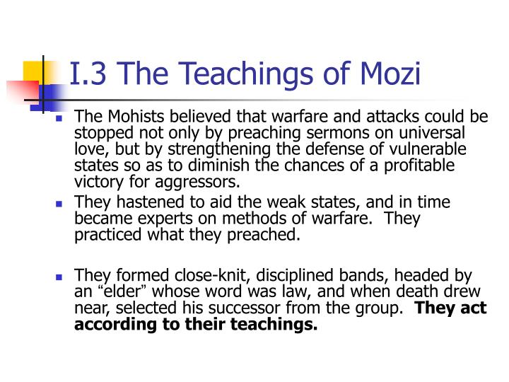 I.3 The Teachings of Mozi