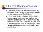 i 4 2 the decline of moism1