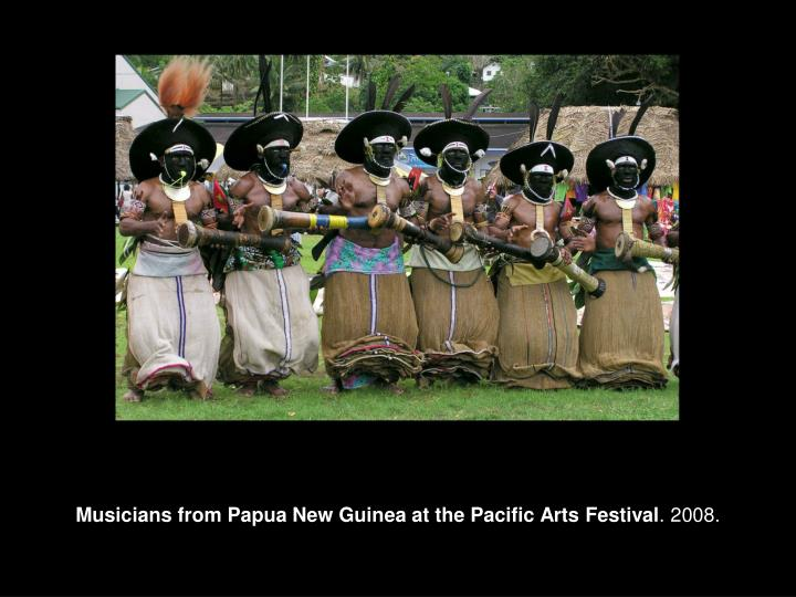 Musicians from Papua New Guinea at the Pacific Arts Festival