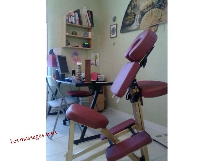 Les massages assis