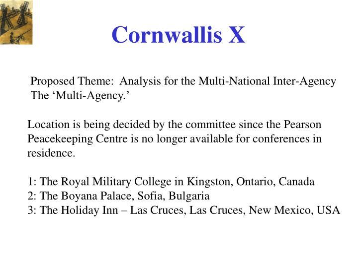 Cornwallis X