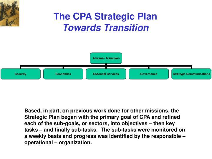 The CPA Strategic Plan