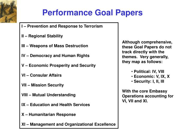 Performance Goal Papers