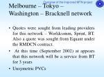 melbourne tokyo washington bracknell network