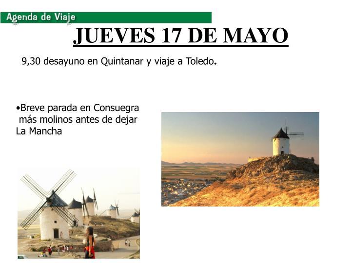 JUEVES 17 DE MAYO