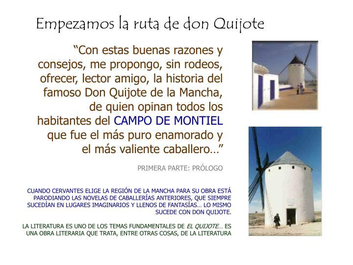 Empezamos la ruta de don Quijote