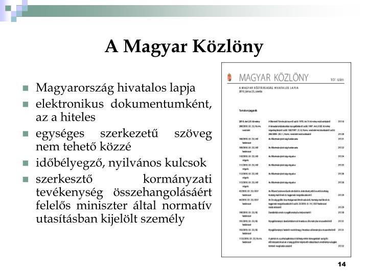 A Magyar Közlöny