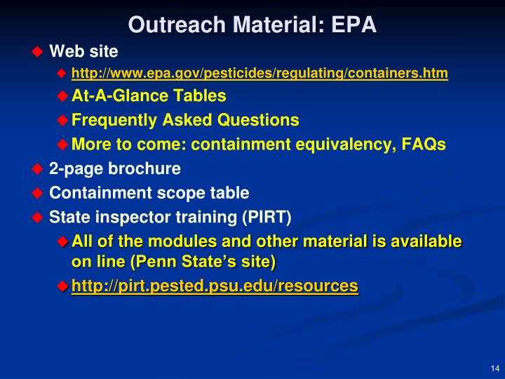 Outreach Material: EPA