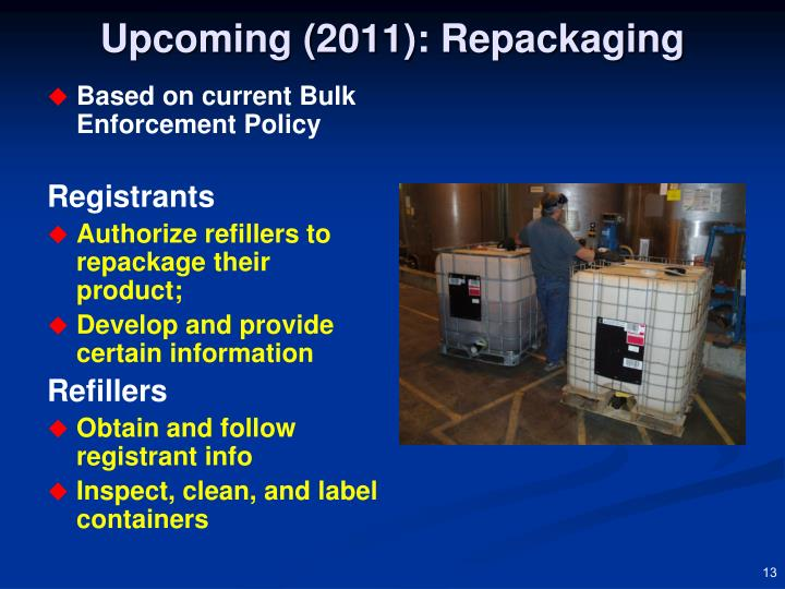 Upcoming (2011): Repackaging