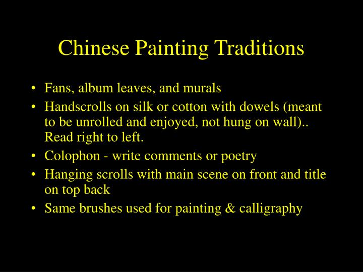 Chinese Painting Traditions