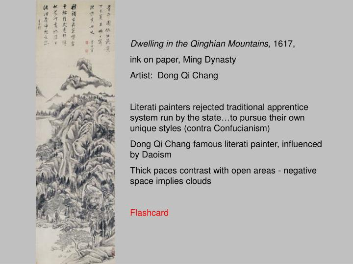 Dwelling in the Qinghian Mountains,